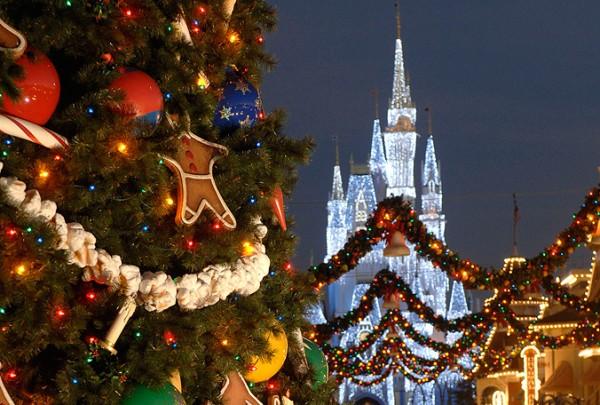 Decoração de Natal no Magic Kingdom