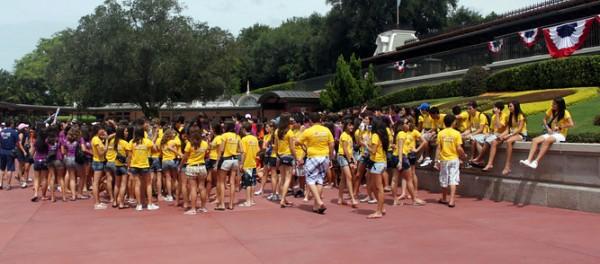 Grupos de brasileiros na Disney