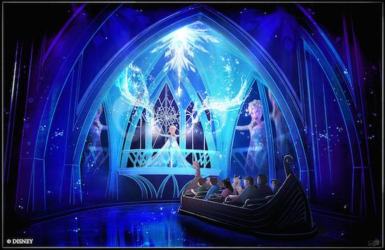 Atração do Frozen no Epcot