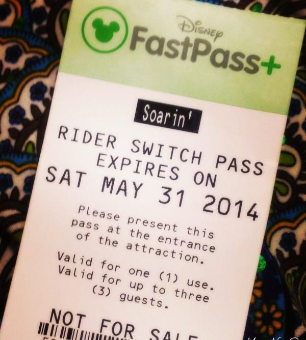 Ticket Rider Switch da Disney