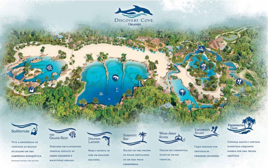 Mapa do Discovery Cove