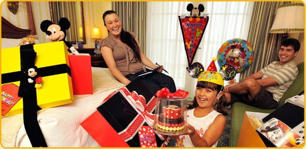 Decoração de aniversário no hotel da Disney