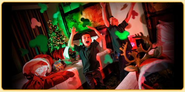 Decoração de Natal no hotel da Disney