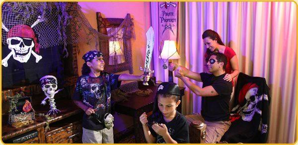 Decoração de piratas no hotel da Disney