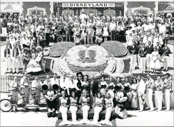 Dia da inauguração da Disneyland, em 1955