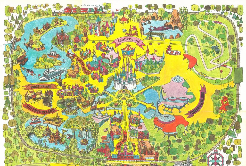 Mapa do Magic Kingdom de 1971. Foto Disney Wikia