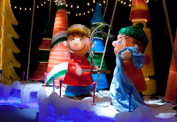 Ice no Gaylord Palms com Charlie Brown
