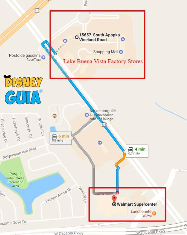 Lake Buena Vista Factory Stores – Outlet charmoso em Orlando